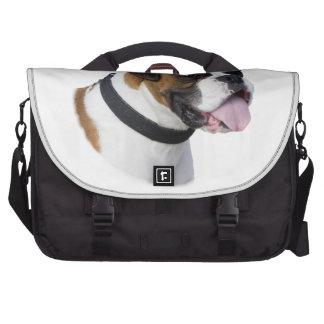 Foto del retrato del perro del boxeador bolsa para ordenador