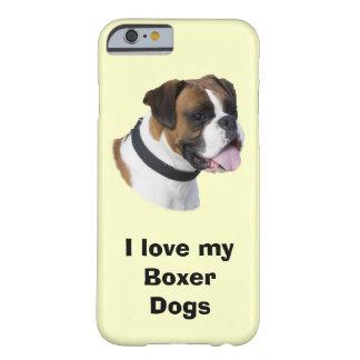 Foto del retrato del perro del boxeador funda de iPhone 6 barely there