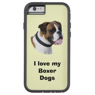 Foto del retrato del perro del boxeador funda de iPhone 6 tough xtreme