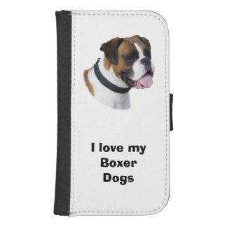 Foto del retrato del perro del boxeador funda billetera para teléfono