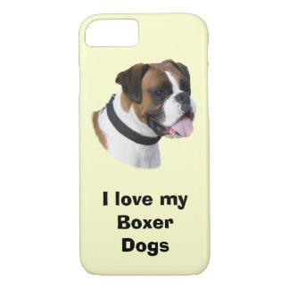 Foto del retrato del perro del boxeador funda iPhone 7