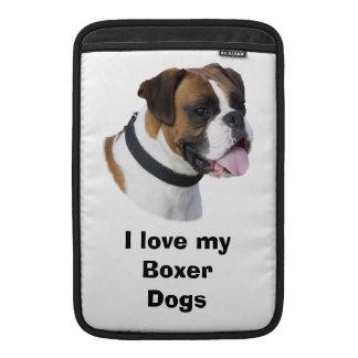 Foto del retrato del perro del boxeador funda para macbook air
