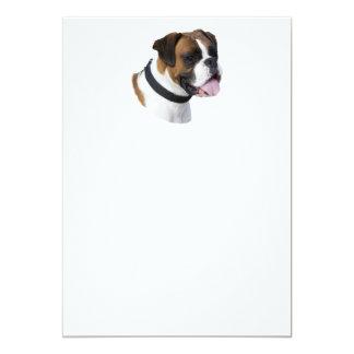 Foto del retrato del perro del boxeador invitación 12,7 x 17,8 cm