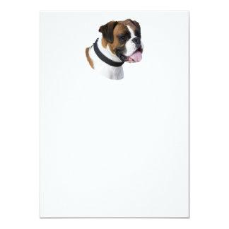 Foto del retrato del perro del boxeador invitación 11,4 x 15,8 cm