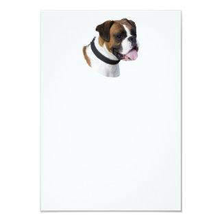Foto del retrato del perro del boxeador invitación 8,9 x 12,7 cm