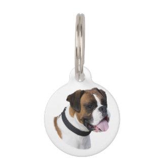 Foto del retrato del perro del boxeador placas de mascota