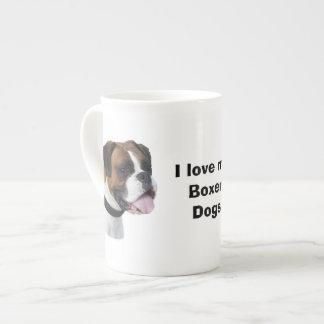 Foto del retrato del perro del boxeador taza de porcelana