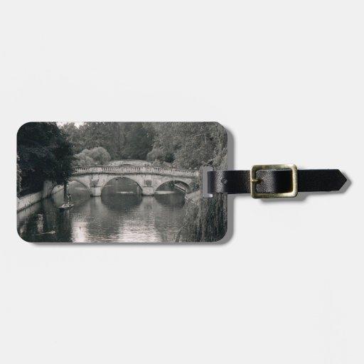Foto del río de Cambridge Etiqueta De Maleta