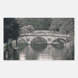 Foto del río de Cambridge Pegatina Rectangular