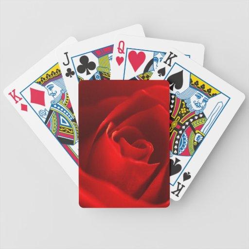 Foto del rosa rojo cartas de juego