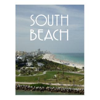 Foto del sur del horizonte de Miami de la playa Postales