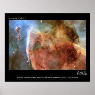 Foto del telescopio de Hubble de la nebulosa del o Póster