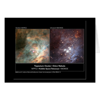 Foto del telescopio de Hubble del racimo del trape Tarjetón