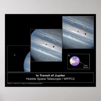 Foto del telescopio de Hubble del tránsito del Io  Póster