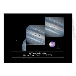Foto del telescopio de Hubble del tránsito del Io Tarjeta De Felicitación
