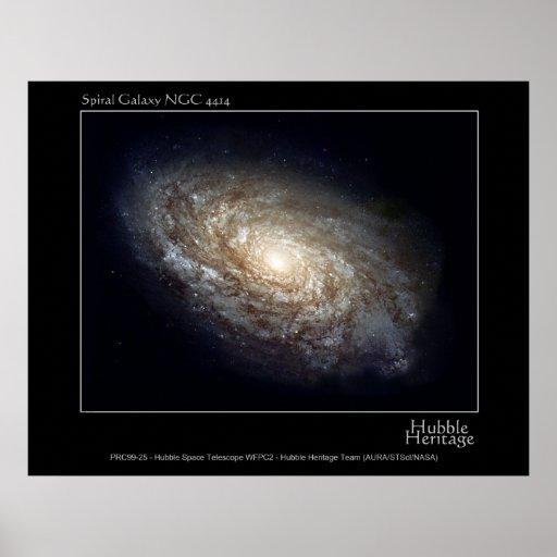 Foto del telescopio de la galaxia espiral NGC 4414 Impresiones