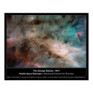 Foto del telescopio de la nebulosa M17 Hubble de O Poster