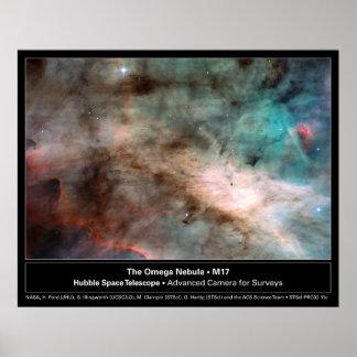 Foto del telescopio de la nebulosa M17 Hubble de O Póster