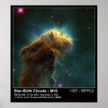 Foto del telescopio de la nube M16 Hubble del naci Póster