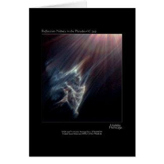 Foto del telescopio de Pleiades IC 349 Nebual Hubb Tarjetas