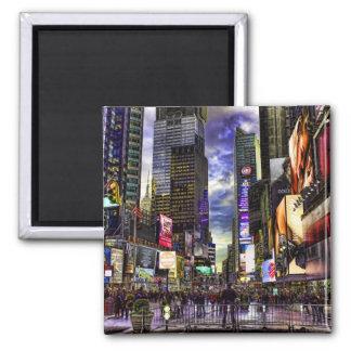 Foto del Times Square en HDR Imán Para Frigorifico