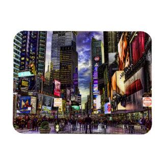 Foto del Times Square en HDR Imanes Rectangulares