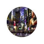 Foto del Times Square en HDR Relojes De Pared