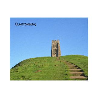 Foto del Tor Somerset Inglaterra de Glastonbury Impresión En Lienzo Estirada