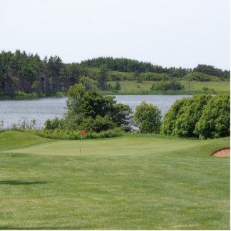Foto del verano del curso de golf fotoescultura vertical