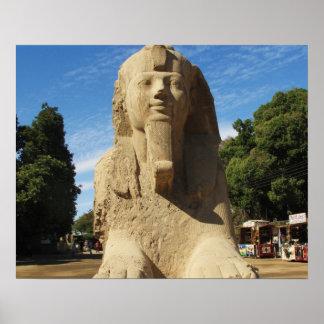 Foto del viaje de la esfinge de Egipto antiguo Póster