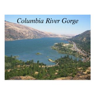 Foto del viaje de la garganta del río Columbia Tarjetas Postales