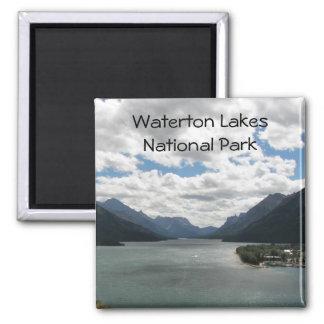 Foto del viaje de los lagos Waterton Imán Cuadrado