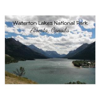 Foto del viaje de los lagos Waterton Tarjeta Postal