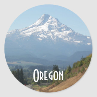 Foto del viaje de Oregon Pegatina Redonda