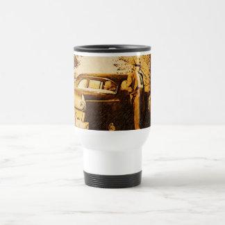Foto del vintage - apagado a la iglesia en los jue tazas de café
