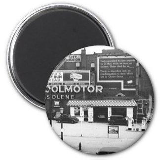 Foto del vintage de Cleveland Ohio de la gasoliner Imán