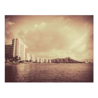 Foto del vintage de la playa de Hawaii Postales
