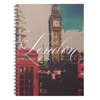 Foto del vintage de la señal de Londres Libros De Apuntes