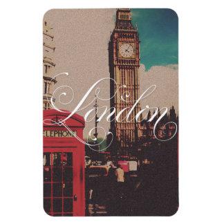 Foto del vintage de la señal de Londres Imán De Vinilo