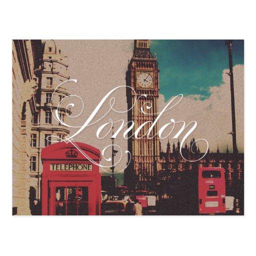 Foto del vintage de la señal de Londres Tarjetas Postales