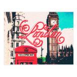 Foto del vintage de la señal de Londres Tarjeta Postal