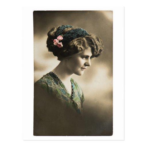 Foto del vintage de la señora from 1920 postales