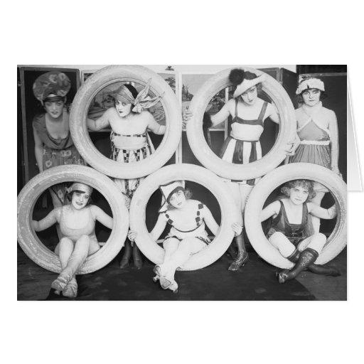 Foto del vintage de los chicas del encanto de Mack Tarjetón