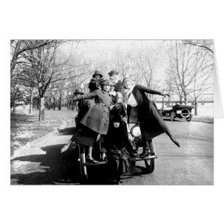Foto del vintage de los chicas del encanto del Gre Tarjeton