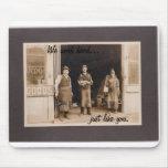 foto del vintage de trabajadores tapetes de raton