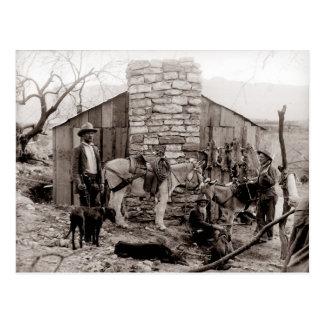 Foto del vintage de una cabina de los tramperos postal