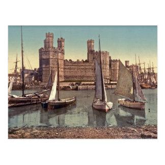 Foto del vintage del castillo de Carnarvon Tarjeta Postal