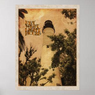 Foto del vintage del faro de Key West Posters