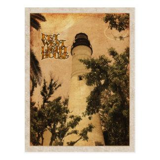 Foto del vintage del faro de Key West Postal