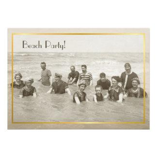 Foto del vintage del fiesta de la playa